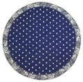 ヴァルドローム VALDROME 円形ラウンドフレームテーブルマット直径40cmサイズ(マナード・ネイビー×ホワイト)【フランス】VAL_TP_RD02