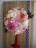 プリザーブドフラワーギフト 和風  敬老の日 お誕生日  贈り物に最適 壁掛け手毬 (てまり)