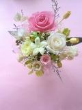 プリザーブドフラワー ギフト 結婚祝いに ピンクローズとジャスミン