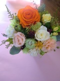 【プリザーブドフラワーギフト 】父の日 お誕生日等の贈り物に最適なダンジェリーオレンジ