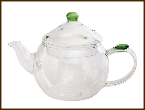 グリーンドットウーロン茶ポット