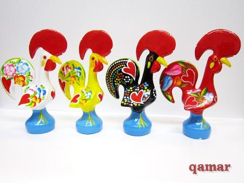 ポルトガル【テラコッタ製 バルセロス の ニワトリ 置物 ミニ】幸せ を呼ぶ 開運 アイテム