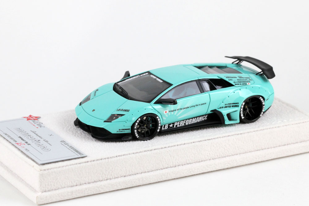 Fuelme Models FM43003LM-C 1/43 LB Performance Lamborghini LB WORKS Murcielago Tiffany Blue Limited 25pcs