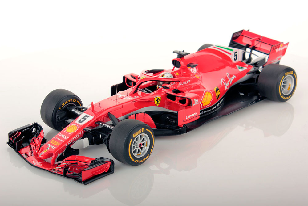 ** 予約商品 ** LOOKSMART LS18F1013 1/18 フェラーリ SF71H No.5 Winner Australian GP 2018 S.Vettel