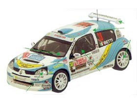 Provence Miniatures K044 ルノー Clio S1600 n.38 Bettil Monte Carlo 2005