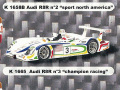 PROVENCE K1665 アウディ R8 Champion Raciang  n.3 LM 2001