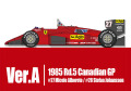 HIRO K592 1/12 フェラーリ 156/85 Ver.A 1985 Rd.5 Canadian GP #27 M.Alboreto / #28 S.Johansson
