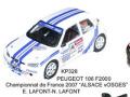 JPS KP328 プジョー 106 F2000 Championnat de France 2007 プリペイントキット