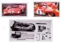 PIRANHA P08 フェラーリ 312PB Winner MONZA 1000km 1972 Chassis #0882