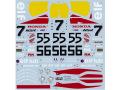 """TABUデザイン 12083 1/12 ホンダ NSR500 """"elf"""" #7/55/56 WGP 1989 デカール(ハセガワ対応) 【メール便可】"""