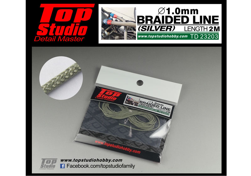 TOP STUDIO TD23203 1.0mm braided line(silver)