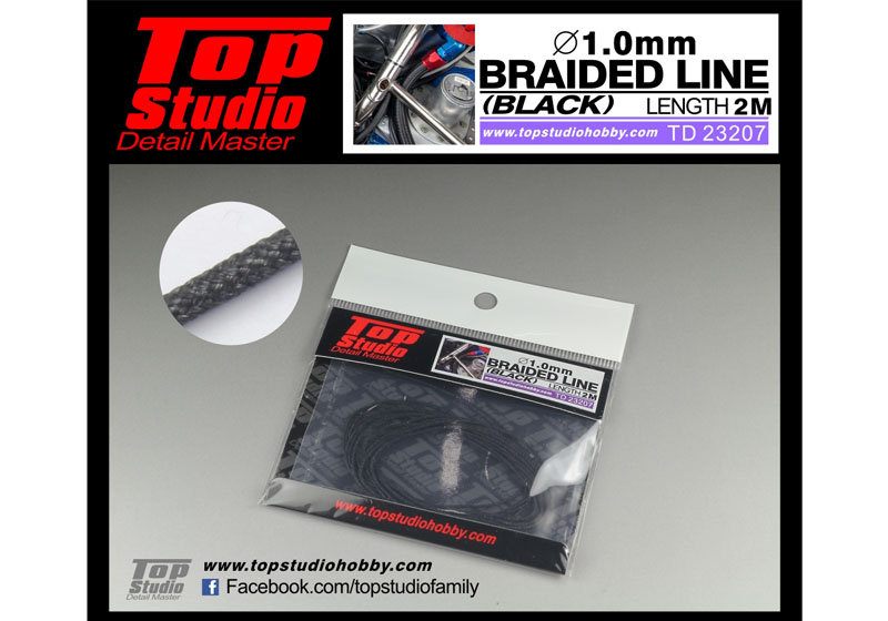 TOP STUDIO TD23207 1.0mm braided line(black)