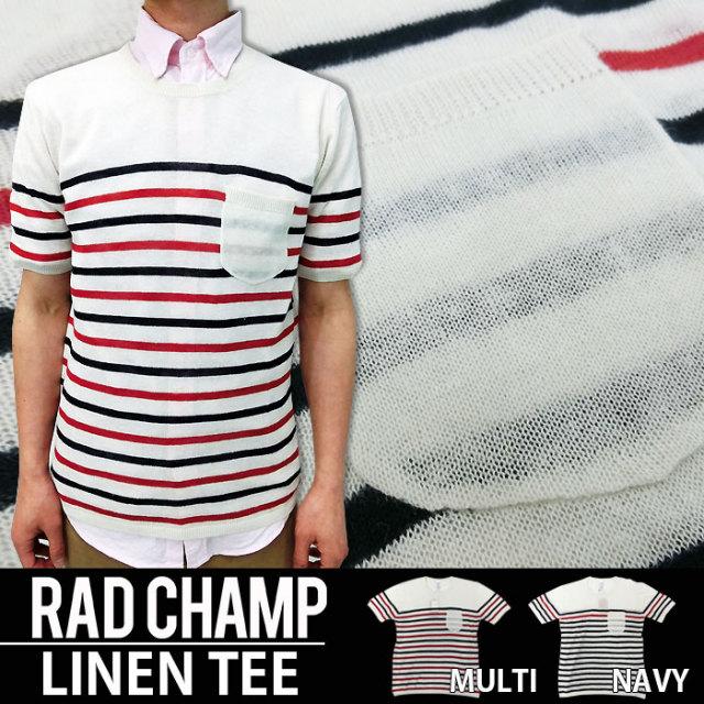 tシャツ メンズ リネンポケットTシャツ/2色 150431 RADCHAMP ラッドチャンプ Modish gaze モディッシュガゼ