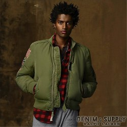 Denim & Supply Ralph Lauren���ǥ˥� & ���ץ饤 ���ե?��� : Nylon Canvas Flight Jacket
