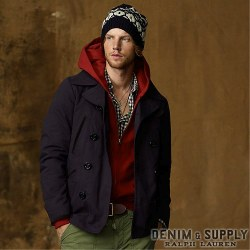 Denim & Supply Ralph Lauren���ǥ˥� & ���ץ饤 ���ե?��� : Plaid-Lined Chino Pea Coat