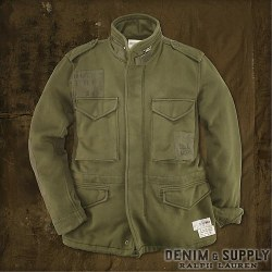 Denim & Supply Ralph Lauren : Fleece Mockneck Flag Jacket