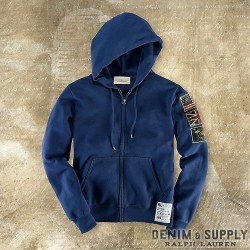 Denim &amp; Supply Ralph Lauren &amp;  ? : Washed Fleece Flag Full-Zip