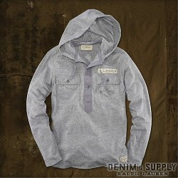 Denim & Supply Ralph Lauren : Cotton Jersey Hooded Henley