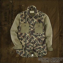 �ǥ˥�&���ץ饤��Denim & Supply : Twill Camo-Print Shirt