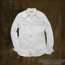 �ǥ˥�&���ץ饤��Denim & Supply : Twill Studded Western Shirt