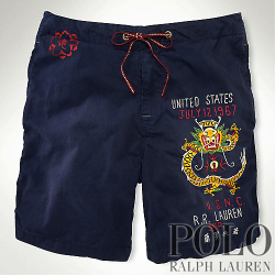 �ݥ���ե?���Polo : Dragon-Detail Swim Trunk