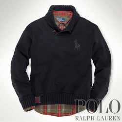 ?Polo Ralph Lauren : Fleece Big Pony Shawl Pullover