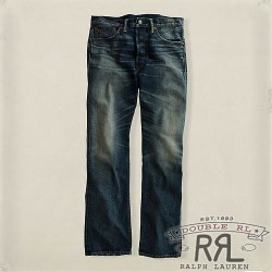 RRL�����֥륢���륨�� : Straight Leg Medium Worn Denim
