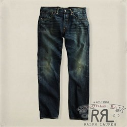 RRL�����֥륢���륨�� : Low Straight Dark Wash Denim