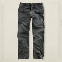 RRL�����֥륢���륨�� : Striped Flat-Front Chino