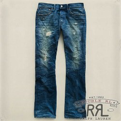 RRL : Slim Bootcut Spring Wash Denim
