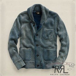 RRL�����֥륢���륨�� : Indigo Shawl-Collar Cardigan