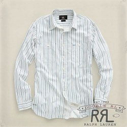 RRL : Printed Broadcloth Workshirt