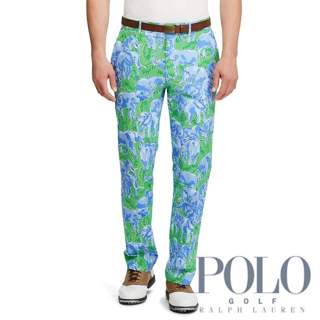 ポロ ゴルフ/ラルフローレン : Classic Fit Stretch Pant [ゆったり/ストレッチ/エレファント柄/ゴルフパンツ]