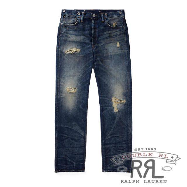 RRL/ダブルアールエル : Selvedge Buckled-Back Jean [ストレート/アメリカ製/デニムパンツ]