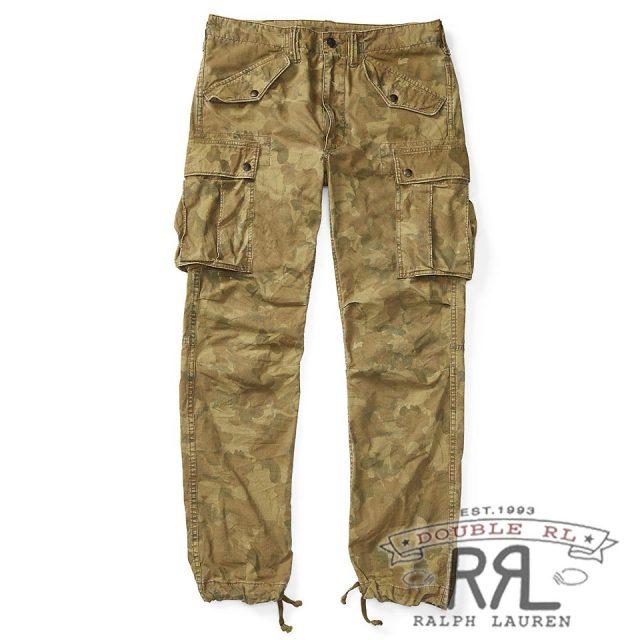 RRL/ダブルアールエル : Camo Cotton-Blend Cargo Pant [ややスリム/軽量ポプリン/迷彩柄/カーゴパンツ]