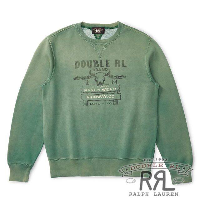RRL/ダブルアールエル : Cotton-Blend Sweatshirt [コットンブレンド/ロゴ/スウェットシャツ]
