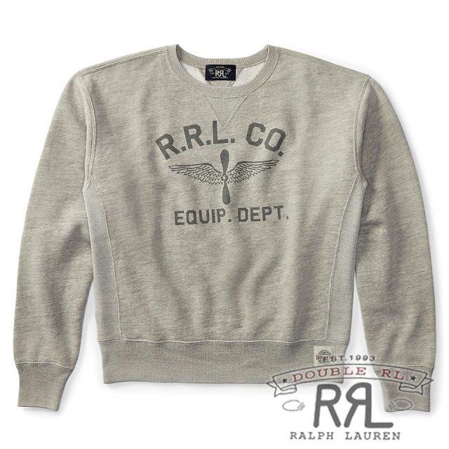 RRL/ダブルアールエル : Cotton-Blend-Fleece Sweatshirt [コットンブレンド/ウイングプロペラ/スウェットシャツ]