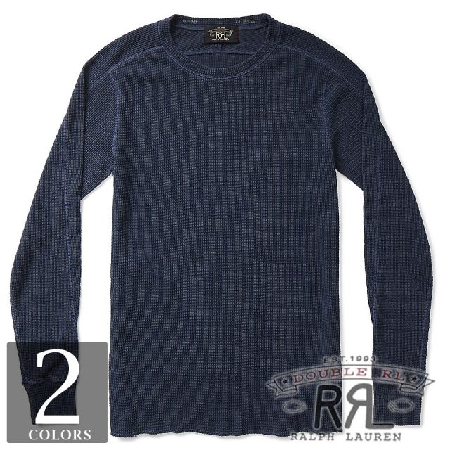 RRL/ダブルアールエル : Waffle-Knit Cotton T-Shirt [ワッフルニット/サーマル/長袖Tシャツ]