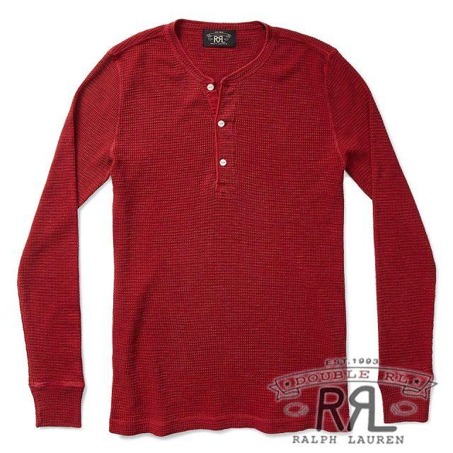 RRL/ダブルアールエル : Waffle-Knit Cotton Henley [ワッフルニット/サーマル/長袖Tシャツ]