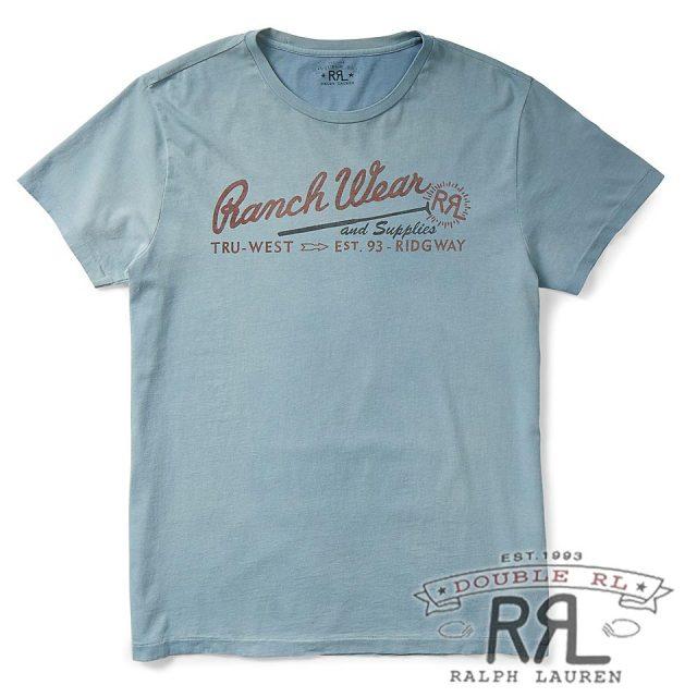 RRL/ダブルアールエル : Cotton Jersey Graphic T-Shirt [リサイクルコットン/半袖Tシャツ]