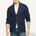 �֥�å��졼�٥�ǥ˥ࡿBlack Label Denim : Chunky Shawl-Collar Cardigan