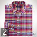 �礭���������Υ��ե?��� : Classic-Fit Plaid Oxford Shirt [���å����ե����ɡ�ŵ�����]