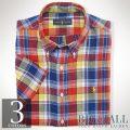 �礭���������Υ��ե?��� : Plaid Linen Shirt [������������ͥ�Ⱦµ�����]