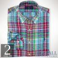 �礭���������Υ��ե?��� : Classic-Fit Plaid Linen Shirt [������������ͥ�ŵ�����]