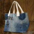 �ǥ˥�&���ץ饤 : Denim Tote Bag