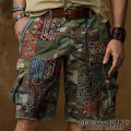 �ǥ˥�&���ץ饤 :Patched Cutoff Cargo Short