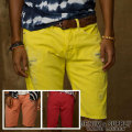 �ǥ˥�&���ץ饤 : Slim-Fit Bright Denim Short