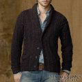 �ǥ˥�&���ץ饤 : Cable Shawl-Collar Cardigan