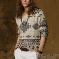 &amp; : Printed V-Neck Sweater