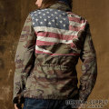 �ǥ˥�&���ץ饤 :Camo Herringbone Flag Jacket